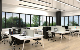 Detailed office rendering - office-interior-render-perfect-work-environment