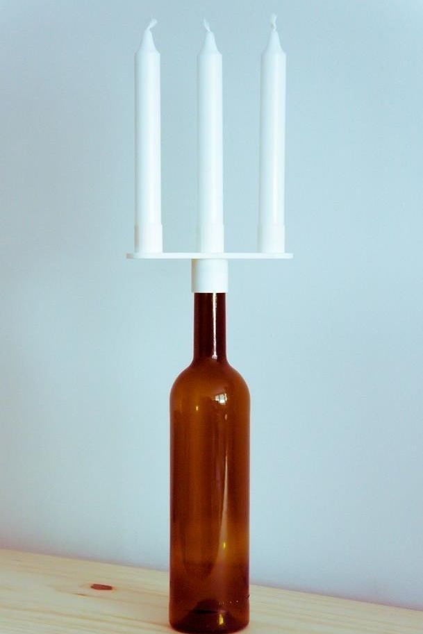 3d printed bottle chandelier