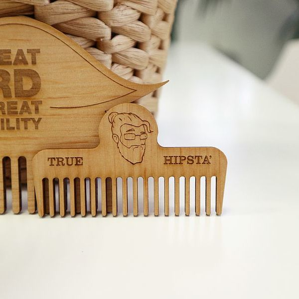 Funny Laser cutted beard comb
