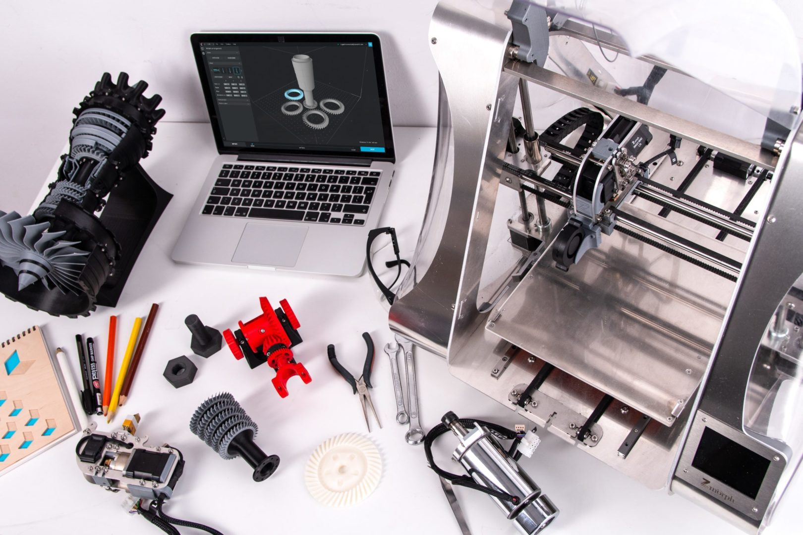 Maker desk with tools
