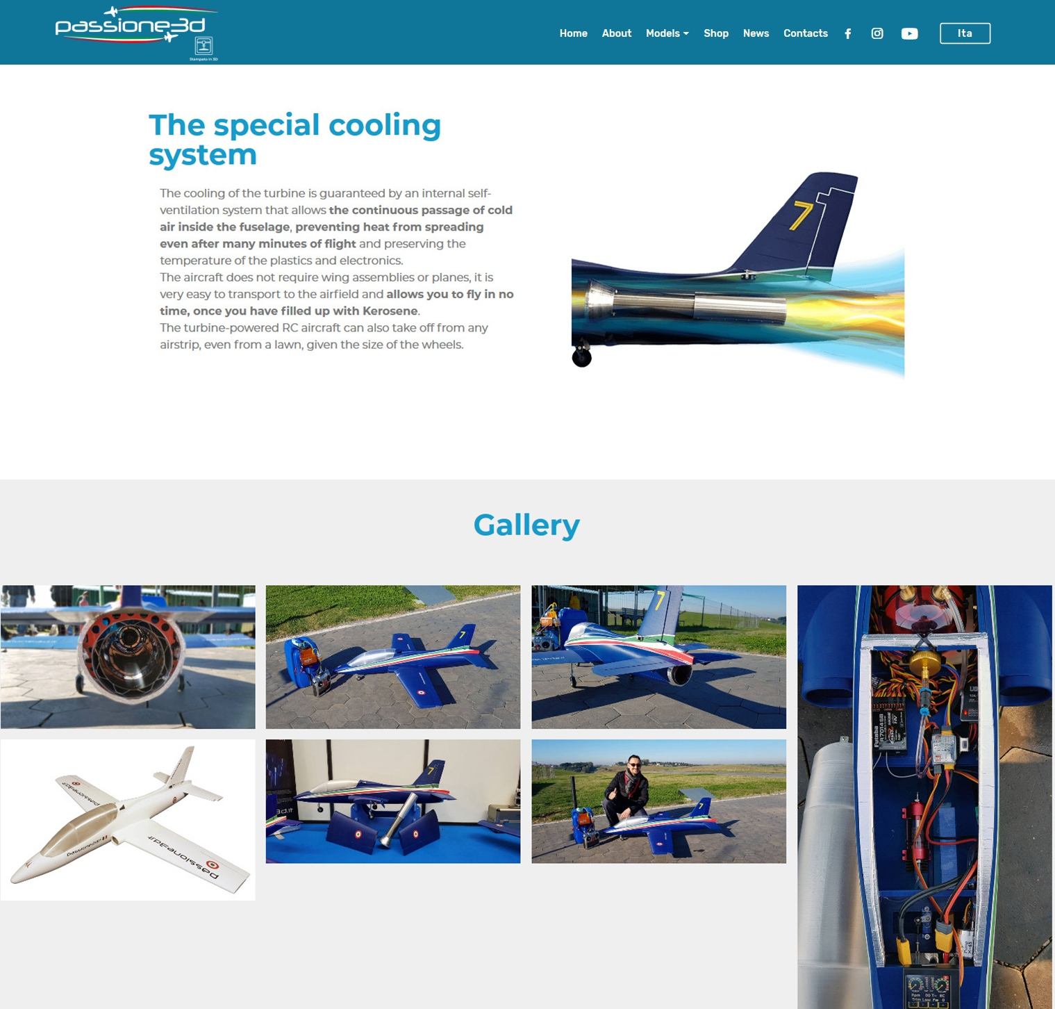 Rc turbine plane cooling system passione 3d