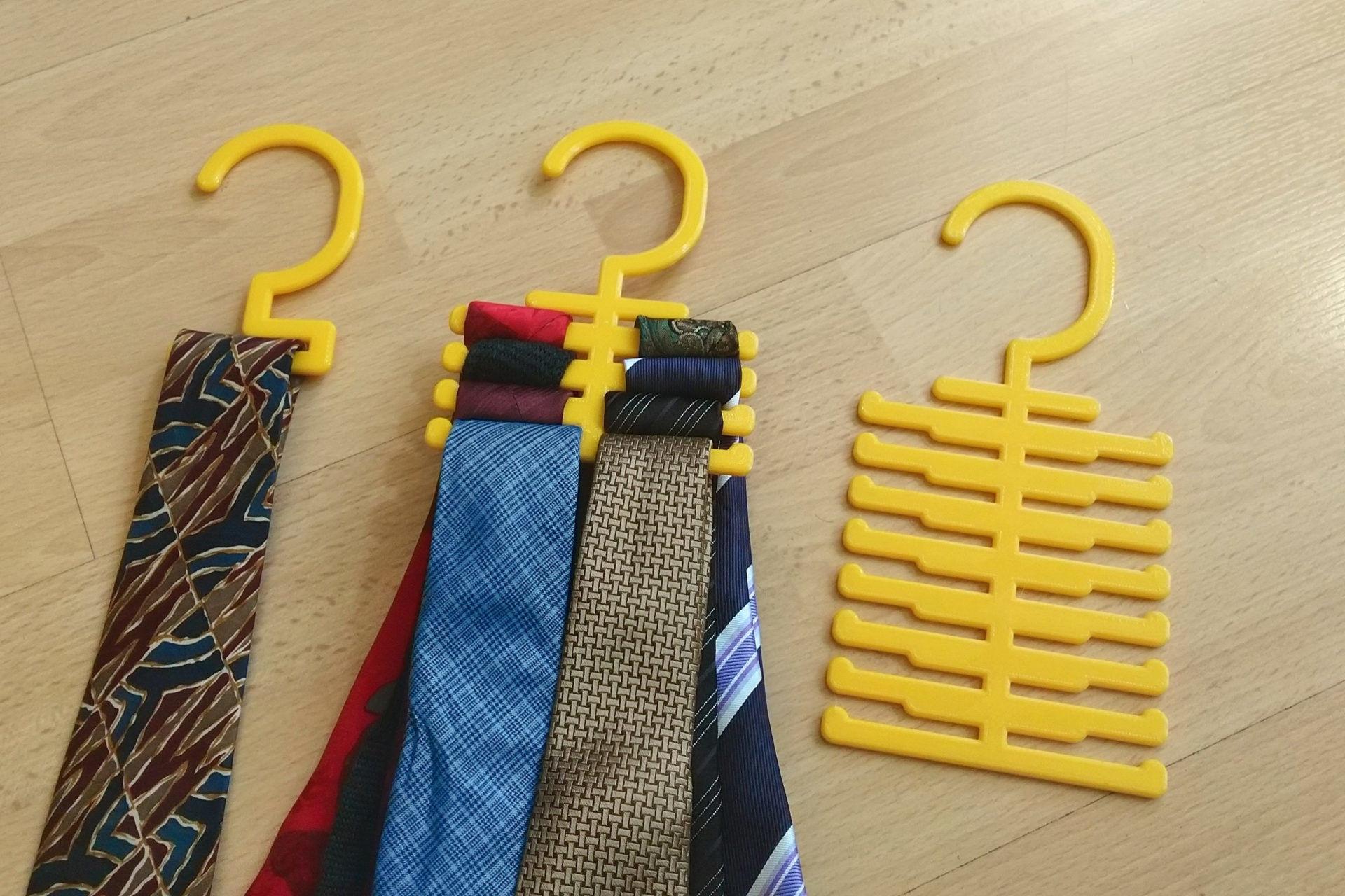 3d printed tie rack hanger