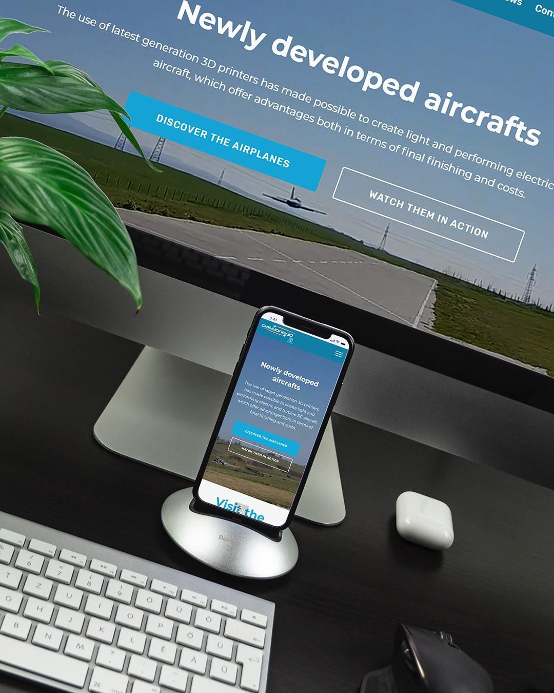 desktop and mobile version website
