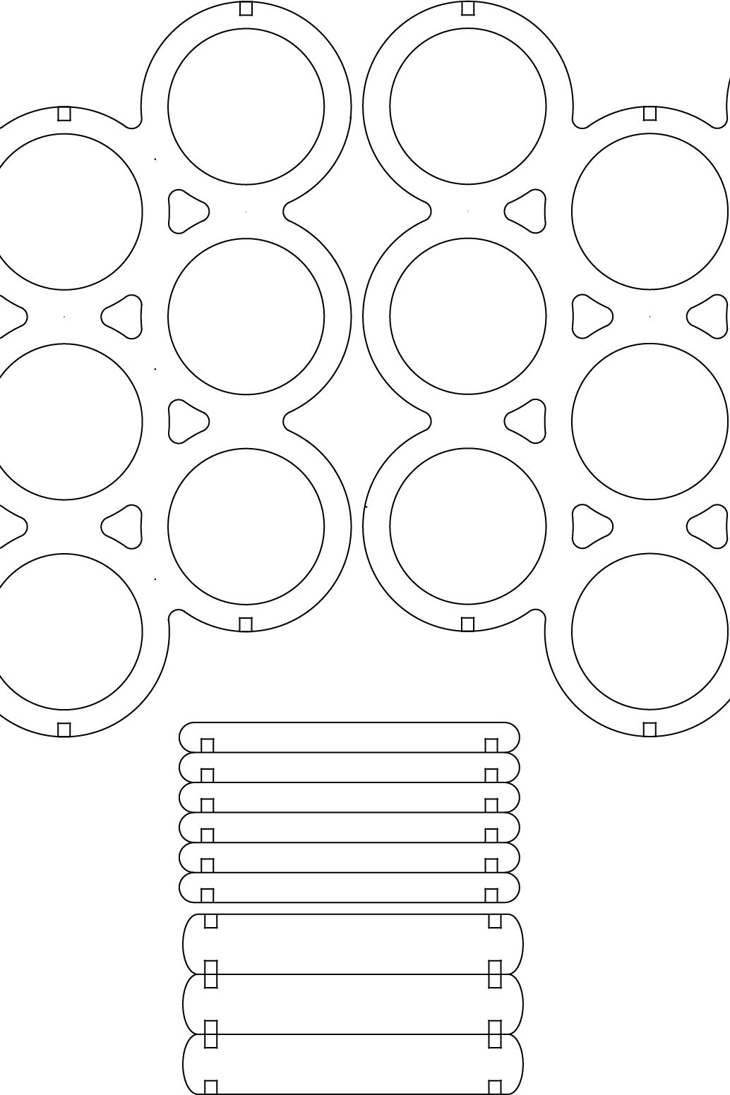 lasercut wine rack draw file