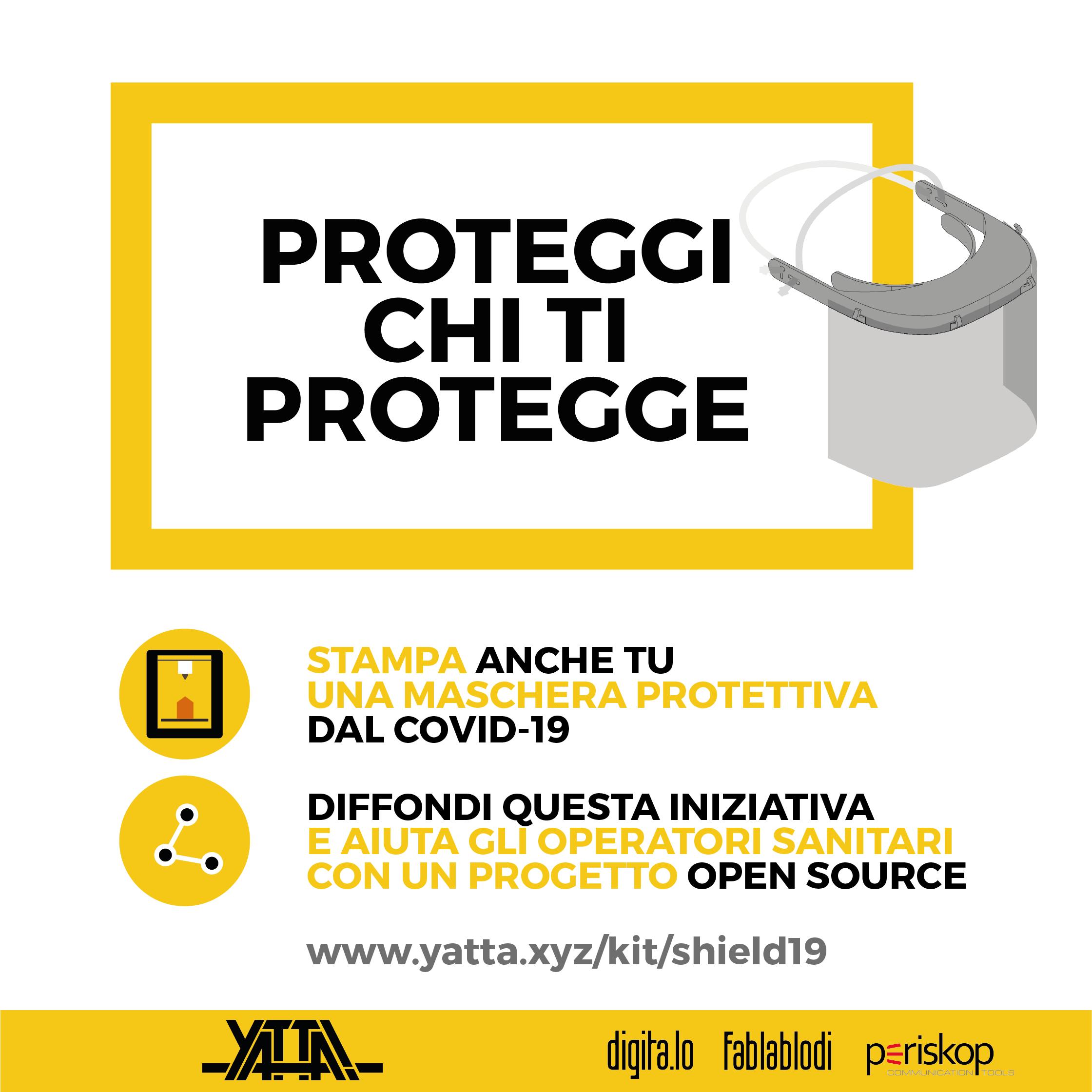 Proteggi chi ti protegge. Schermo facciale con visiera