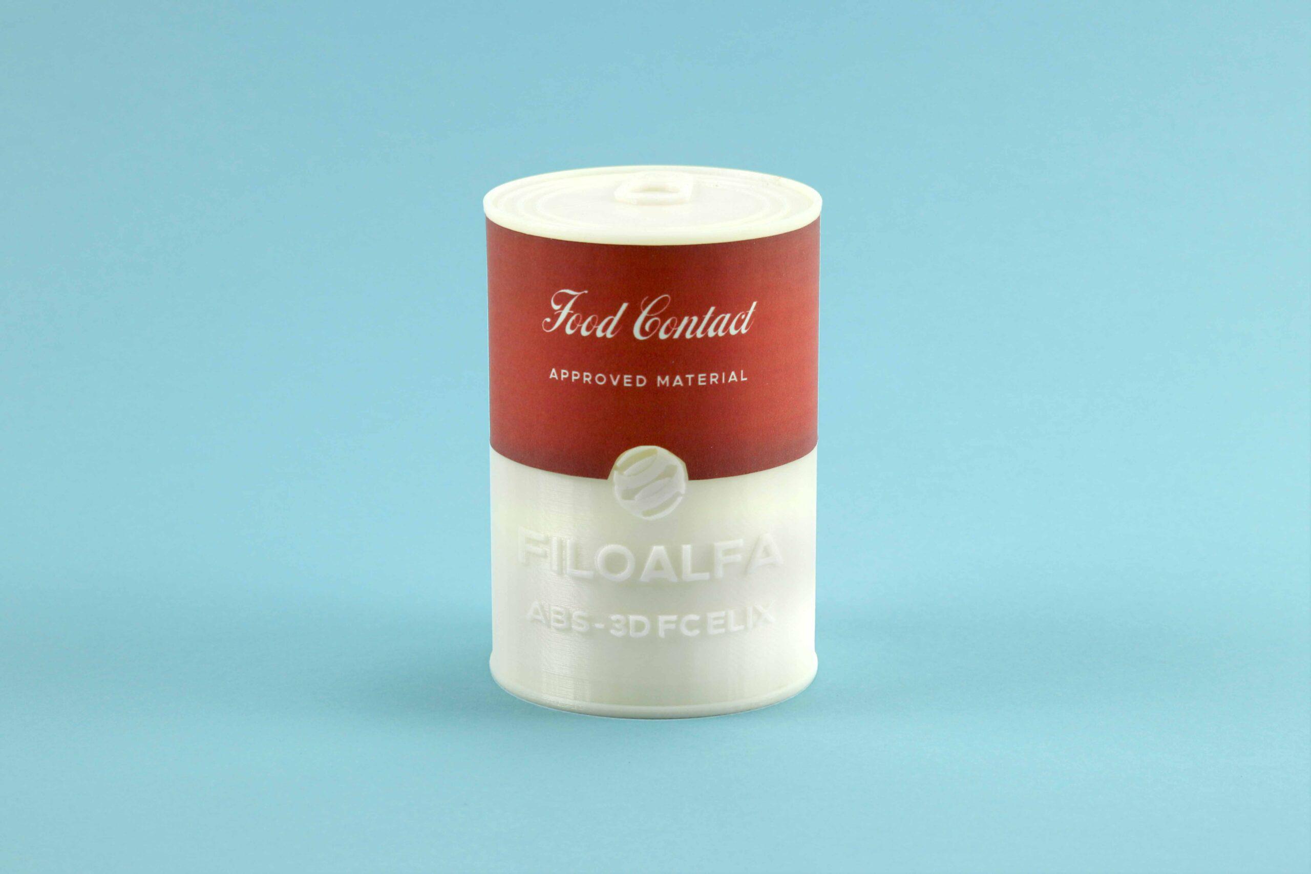Lattina stampata in 3d con ABS-3d FC by Elix e Filoalfa